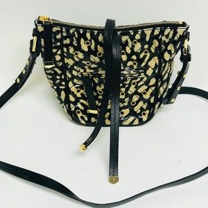 Designs by Vera Bradley black/tan crossbody bag